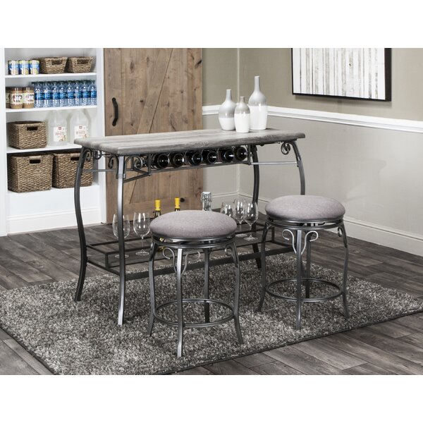 Wilber 3 Piece Pub Table Set by Fleur De Lis Living