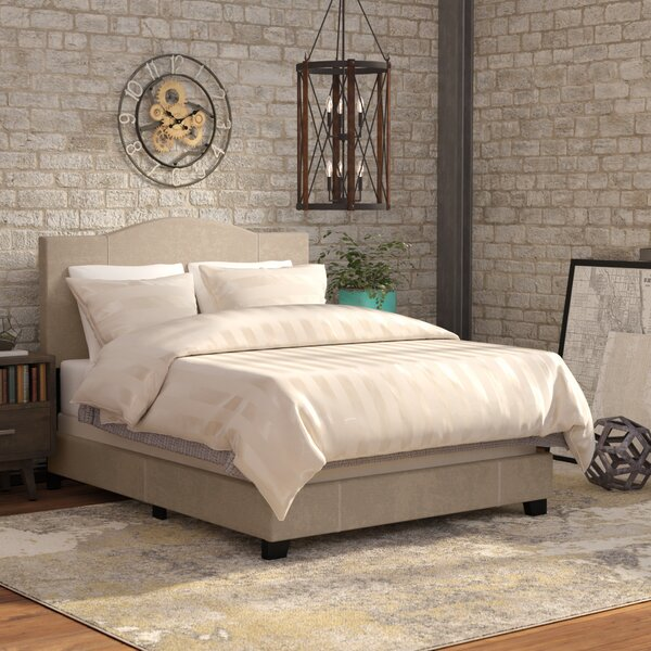 Black Mesa Modified Camel Back Upholstered Panel Bed by Andover Mills