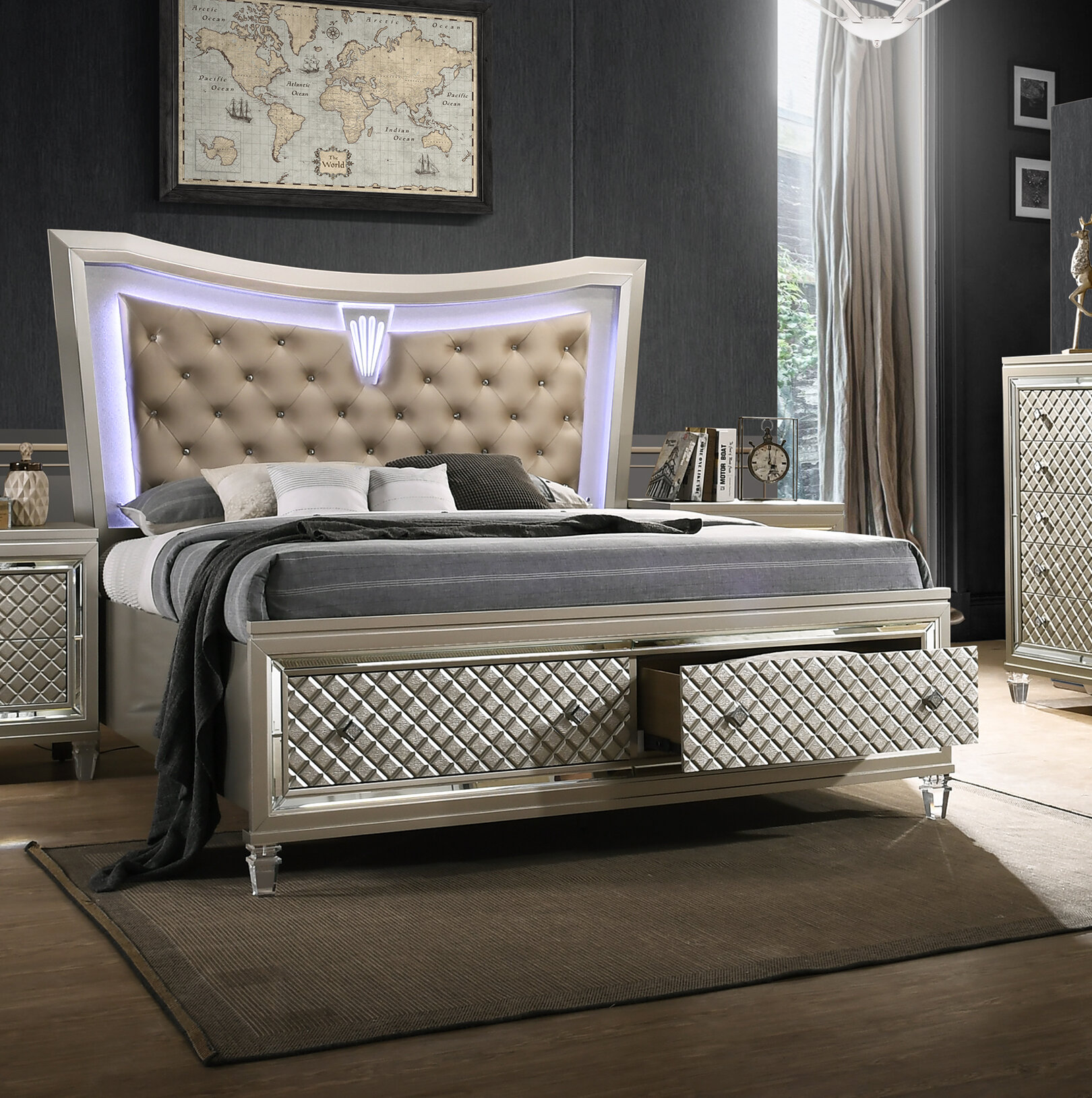 Picture of: Rosdorf Park Eliseo California King Storage Platform Bed Wayfair