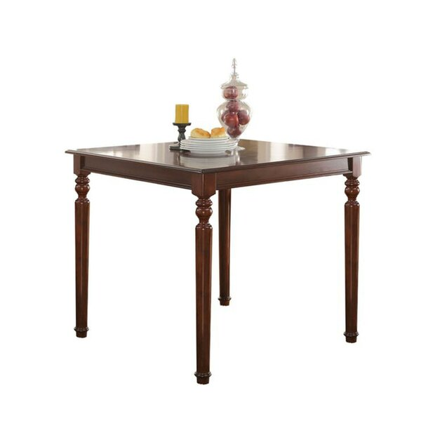 Fresh Noblestown Wonderful Counter Height Solid Wood Dining Table By Charlton Home 2019 Sale