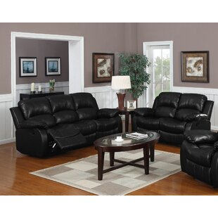 Black Faux Leather Living Room Sets You\'ll Love | Wayfair