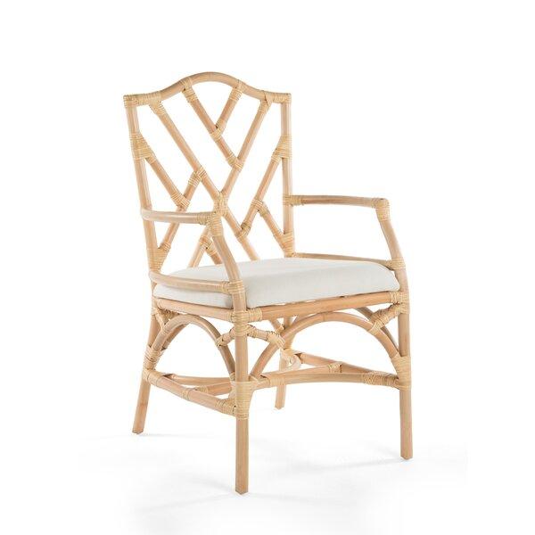 Margrett Rattan Arm Chair (Set of 2) by Bayou Breeze