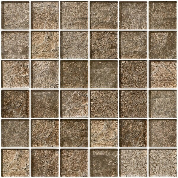2 x 2 Glass Mosaic Tile in Cocobean Sheen by Susan Jablon