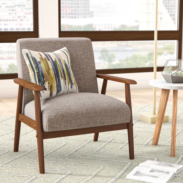 Derryaghy Wood Frame Armchair by Langley Street