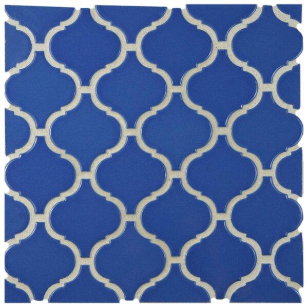Retro Lantern 2.87 x 3.06 Porcelain Mosaic Tile in Glossy Blue by EliteTile