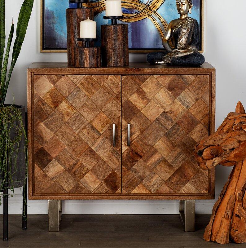 Cole Grey 2 Door Wood And Metal Accent Cabinet Reviews Wayfair