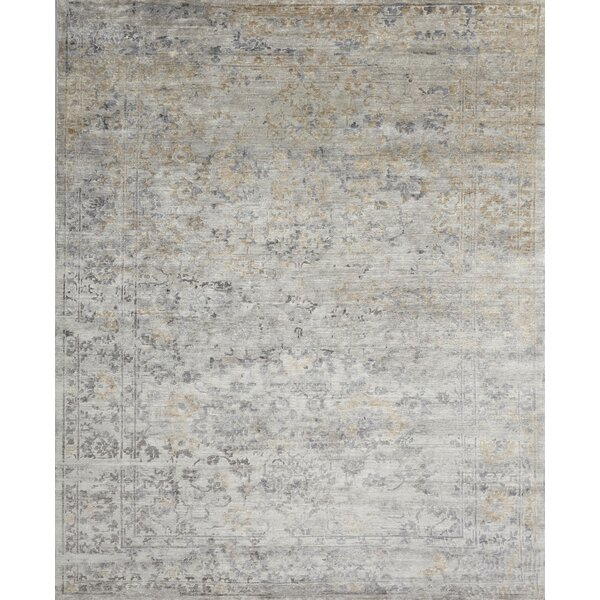Leffel Hand-Knotted Gray Area Rug by Rosdorf Park