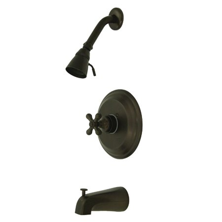 Restoration Single Handle Tub and Shower Faucet by Kingston Brass