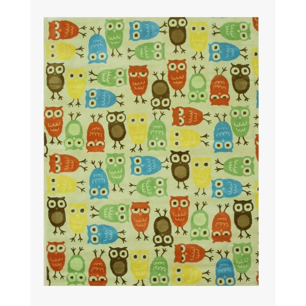 Hand-Tufted Beige/Blue/Green Kids Area Rug by Eastern Rugs
