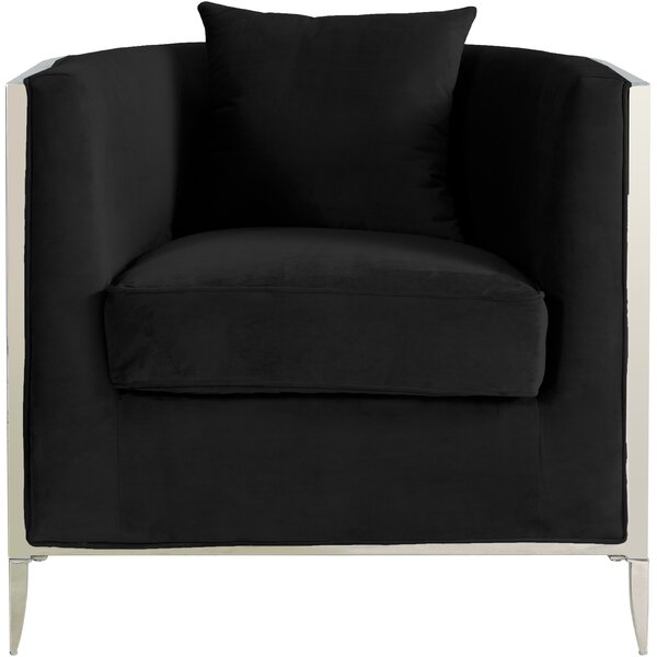 Parthenia Barrel Chair by Everly Quinn Everly Quinn