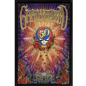 'Grateful Dead - 50th Anniversary' Framed Vintage Advertisement by Frame USA