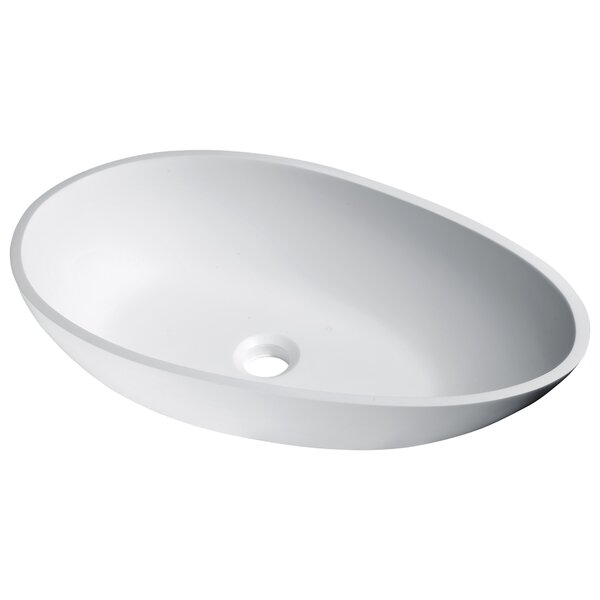 Anoda Plastic Oval Vessel Bathroom Sink by ANZZI
