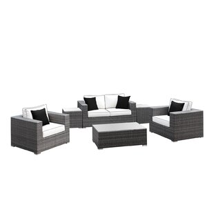 Yeager 6 Piece Rattan Sofa Set with Cushion by Orren Ellis