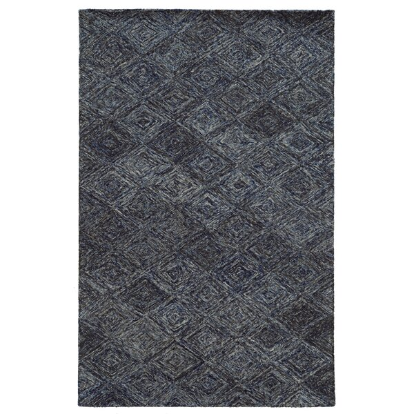 Colorscape Hand-Tufted Geometric Blue/Grey Area Rug by Pantone Universe