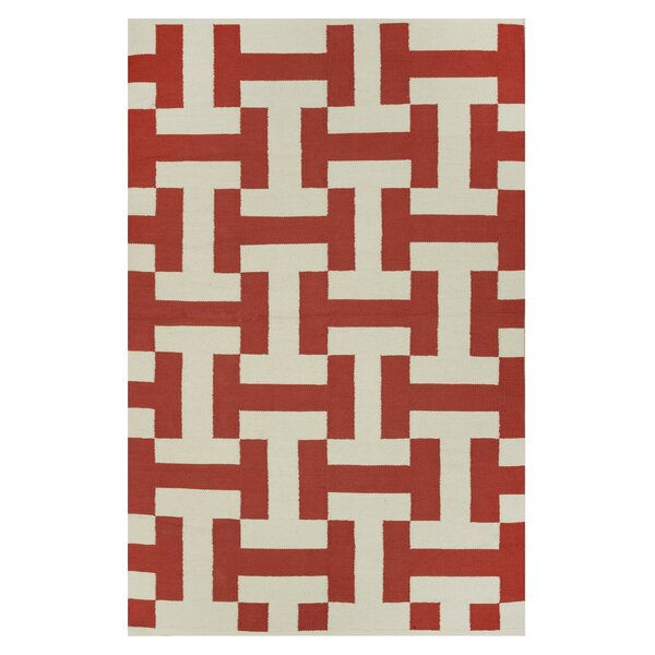 Metro Canal Paprika/Beige Rug by Fab Habitat