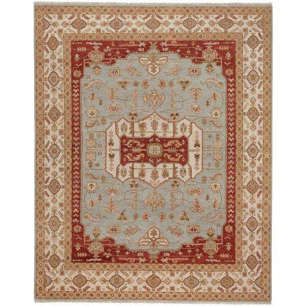Biltmore Hand-Knotted Gray/Cream Area Rug by Capel Rugs