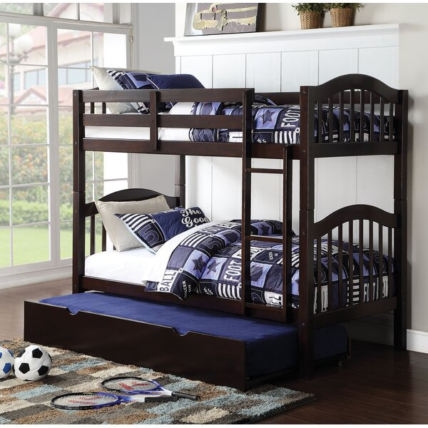 Dwaine Panel Twin over Twin Bunk Bed with Trundle by Harriet Bee