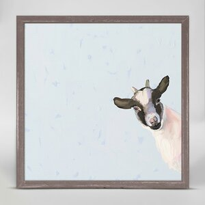 Baby Goat by Cathy Walters Mini Canvas Framed Art by Oopsy Daisy