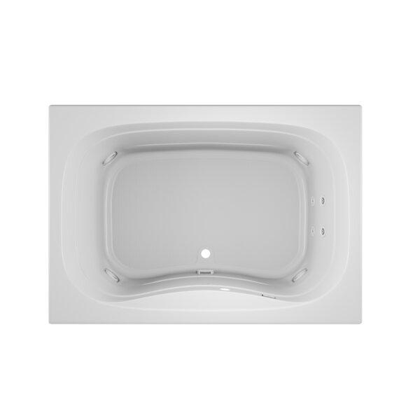 Signa Left-Hand 60 L x 42 W Drop In Whirlpool Bathtub by Jacuzzi®
