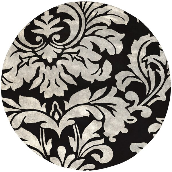 Millwood Hand-Tufted Black/White Area Rug by Charlton Home