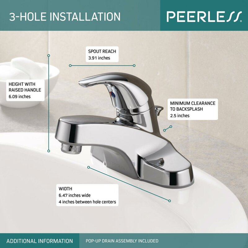 Peerless Faucets Centerset Bathroom Faucet with & Reviews | Wayfair