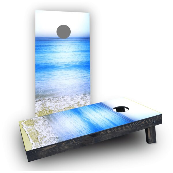 Beach Clear Water Cornhole Boards (Set of 2) by Custom Cornhole Boards