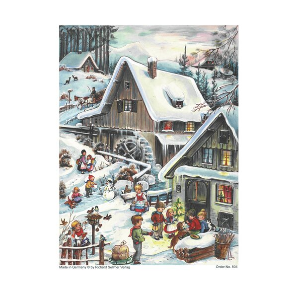 Sellmer Small Woodland Cottage Advent Calendar by The Holiday Aisle