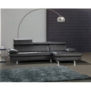 Coalpit Heath Leather Sectional Orren Ellis