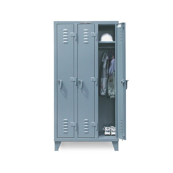 2 Tier 3 Wide Employee Locker by Strong Hold Products