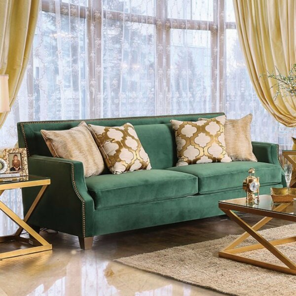 Maci Sofa with Toned Pillows by Everly Quinn