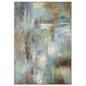 'Dewdrops' by Grace Feyock Oil Painting Print on Canvas by Uttermost