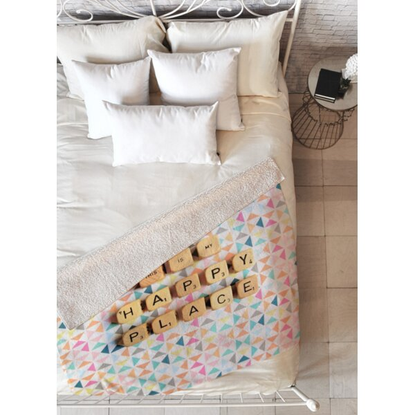 This Is My Happy Place Fleece Throw Blanket by East Urban Home