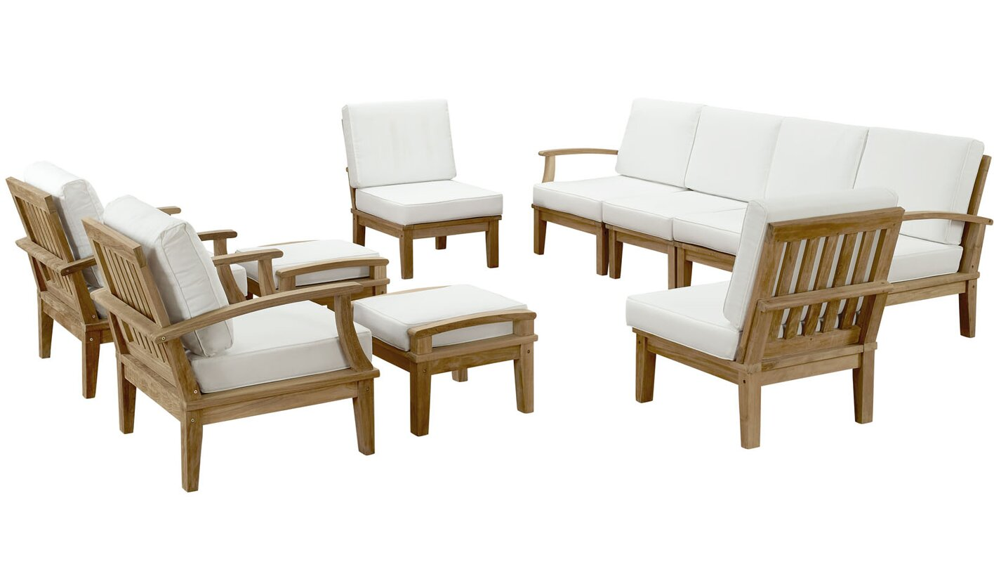 SAVE f Elaina 10 Piece Sofa Set with Cushions by