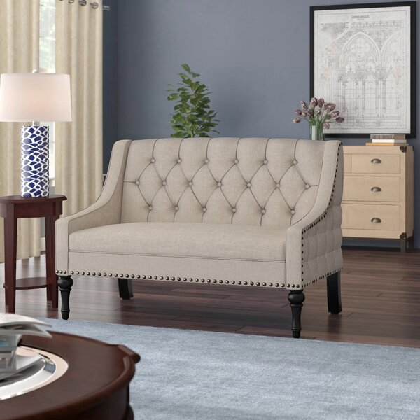 Dashing Jamila Tufted Standard Loveseat New Deal Alert