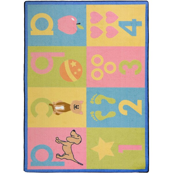 Hand-Tufled Blue/Pink Kids Rug by The Conestoga Trading Co.
