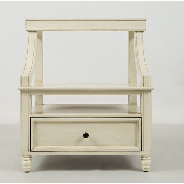 Beatrice 1 Drawer Nightstand by Three Posts