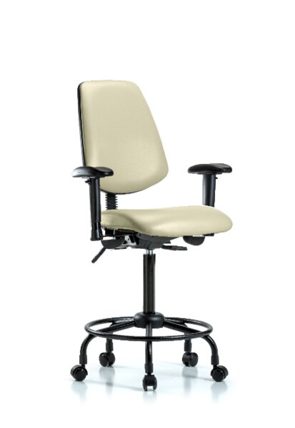 Natasha Round Tube Base Ergonomic Office Chair by Symple Stuff
