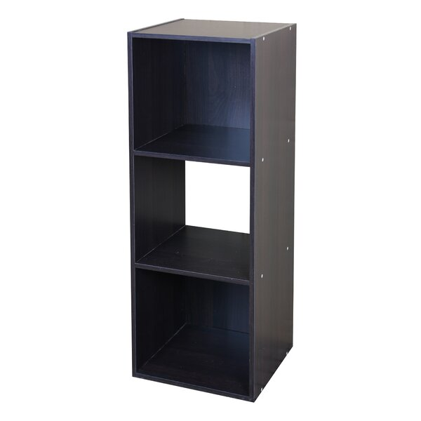 Amaranth Wood Stackable 3 Cube Bookcase By Ebern Designs