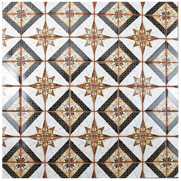 Melody Cotta 3.83 x 3.83 Porcelain Mosaic Tile in Marron by EliteTile