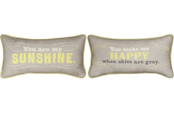You are My Sunshine Cotton Lumbar Pillow by Manual Woodworkers & Weavers