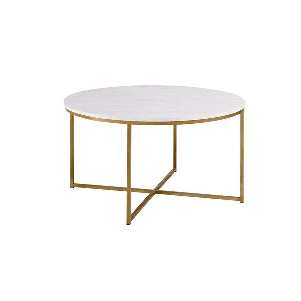 Shamblin Cross Legs Coffee Table With Storage By Mercer41