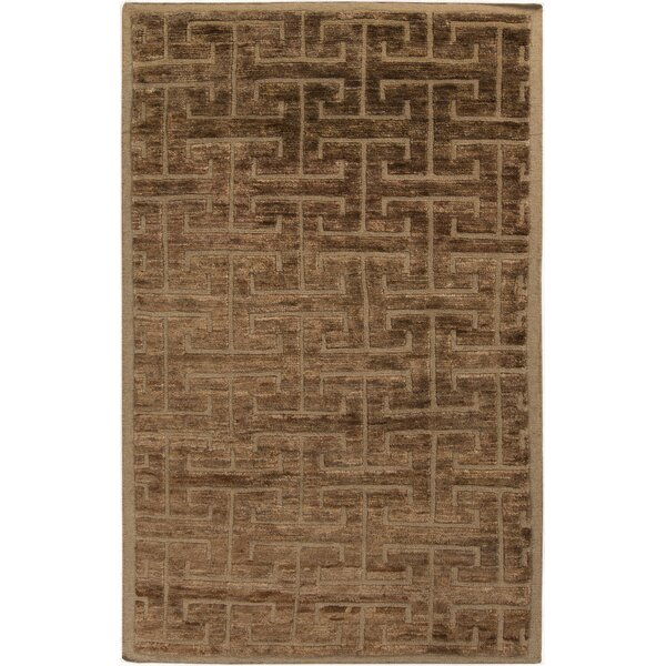 Helston Taupe Area Rug by Mercer41