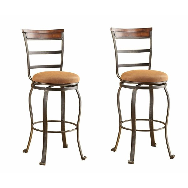 Trotter 29 Swivel Bar Stool (Set of 2) by Fleur De Lis Living