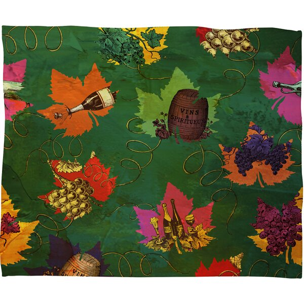 Celebrating Autumn Pattern Throw Blanket by East Urban Home