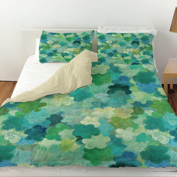Aqua Bloom Water Blends Duvet Cover by Manual Woodworkers & Weavers