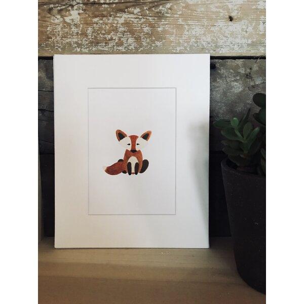 Schwartz Watercolor Fox Framed Paper Print by Harriet Bee