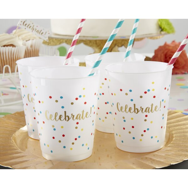 Celebrate 14 oz. Plastic Every Day Glass (Set of 12) by Kate Aspen