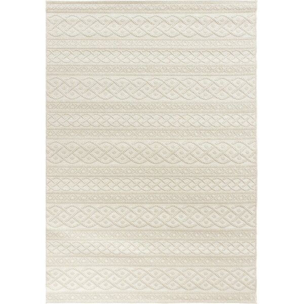 Acton Ivory Indoor/Outdoor Area Rug by Three Posts
