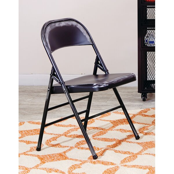 Krishtha Metal Folding Chair (Set of 4) by 17 Stories