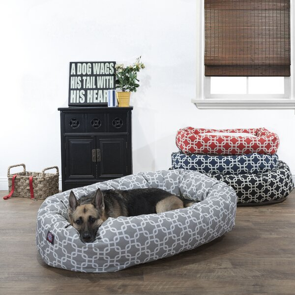 Links Sherpa Bagel Bolster Pet Bed by Majestic Pet